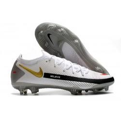 Bota de Futbol Nike Phantom GT Elite FG - Blanco Negro Oro
