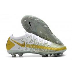 Nike Phantom GT Elite FG Botas de fútbol para terreno Oro Blanco