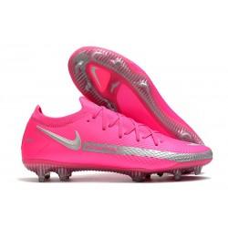 Bota de Futbol Nike Phantom GT Elite FG - Rosa Plata