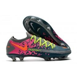 Nike Phantom GT Elite FG Botas de fútbol para terreno Gris Azul Rosa