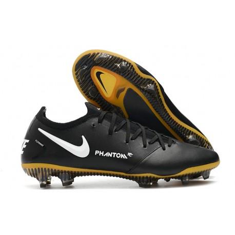 Nike Phantom GT Elite FG Botas de fútbol para terreno Negro Oro Blanco