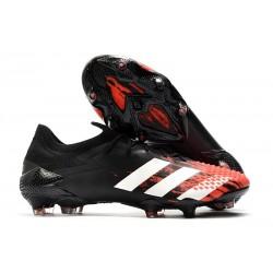 adidas Nuevo Predator Mutator 20.1 Low FG Negro Blanco Rojo