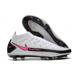 Nike Phantom GT Elite Dynamic Fit AG-PRO hombre Blanco Rosa Negro