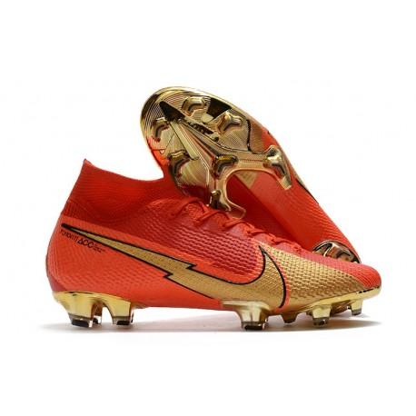 Bota Nike Mercurial Superfly 7 Elite FG CR100 Rojo Oro