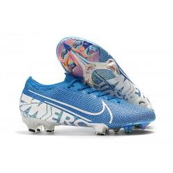 Botas de Fútbol Nike Mercurial Vapor XIII Elite FG Azul Blanco