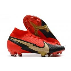 Bota Nike Mercurial Superfly 7 Elite FG Rojo Negro Oro