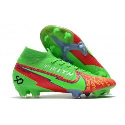 Bota Nike Mercurial Superfly 7 Elite FG Faith Verde Rojo