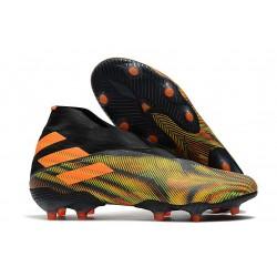 Zapatillas de Futbol adidas Nemeziz 19+ FG Verde Naranja Negro