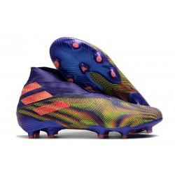 Zapatillas Futbol adidas Nemeziz 19+ FG Tinta Energia Rosa Senal Verde