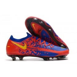 Nike Phantom GT Elite FG Botas de fútbol para terreno Rojo Azul