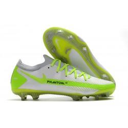 Nike Phantom GT Elite FG Botas de fútbol para terreno Blanco Verde