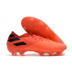 Zapatos Fútbol adidas Nemeziz 19.1 FG - Signal Coral Negro Rojo Gloria