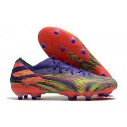 Zapatos Fútbol adidas Nemeziz 19.1 FG - Tinta Energia Rosa Senal Verde