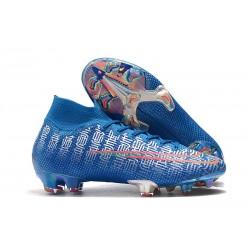 Nike Mercurial Superfly 7 Elite FG Botas de fútbol Azul Rojo