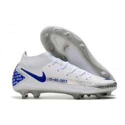 Nike Botas Nuevo Phantom GT Elite DF FG - Blanco Azul