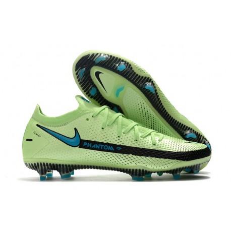 Nike Phantom GT Elite FG Botas de fútbol para terreno Verde Azul Negro
