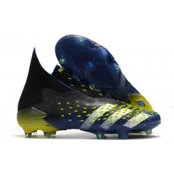 Botas Fútbol adidas Predator Freak FG Azul Negro Blanco Amarillo Solar