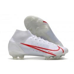Zapatillas Nike Mercurial Superfly VIII Elite FG Blanco Rojo