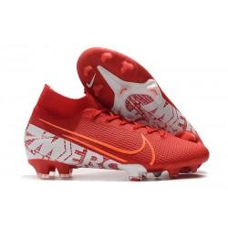 Nike Mercurial Superfly 7 Elite FG Botas de fútbol Rojo Blanco