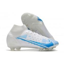 Zapatillas Nike Mercurial Superfly VIII Elite FG Blanco Azul