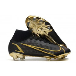 Zapatillas Nike Mercurial Superfly VIII Elite FG Negro Oro