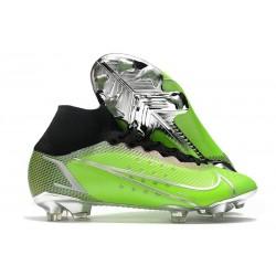 Nike Bota Mercurial Superfly 8 Elite FG Verde Plata Negro