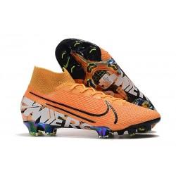 Nike Mercurial Superfly 7 Elite FG Botas de fútbol Naranja Blanco