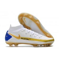 Nike Phantom GT Elite DF FG Blanco Oro Azul