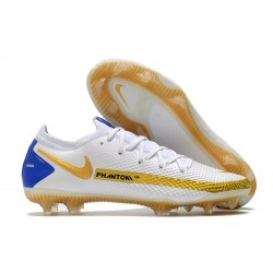Zapatillas Nike Phantom GT Elite FG Blanco Oro Azul