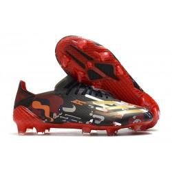 adidas x Ghosted.1 FG Negro Rojo Oro