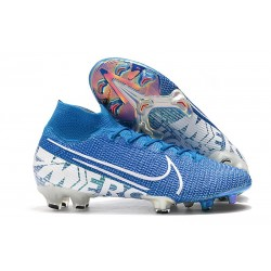 Nike Mercurial Superfly 7 Elite FG New Lights Azul Blanco
