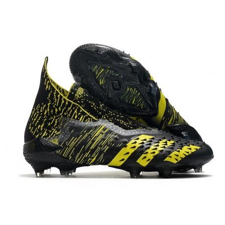Botas de Fútbol adidas Predator Freak FG Negro Amarillo