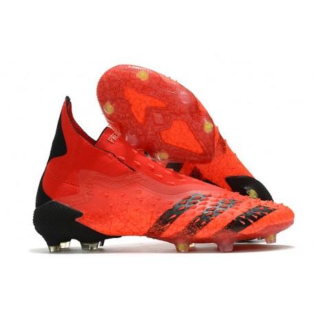 Botas de Fútbol adidas Predator Freak FG Rojo Negro Rojo Solar