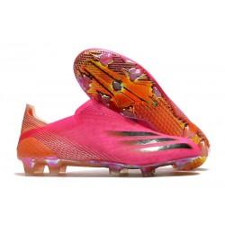 Zapatillas adidas X Ghosted + FG Rosa Negro Naranja