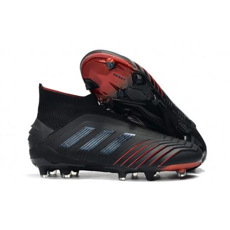 Botas de fútbol adidas Predator 19+ Fg - Negro Rojo