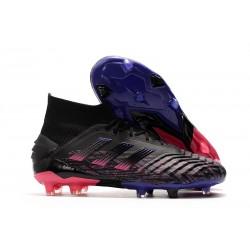 Botas de fútbol adidas Predator 19+ Fg - Negro Rosa Azul