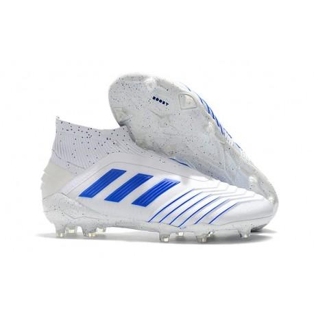 Botas de fútbol adidas Virtuso Predator 19+ Fg - Blanco Azul