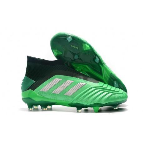 Botas de fútbol adidas Predator 19+ Fg - Verde Plata