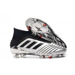 Botas de fútbol adidas Predator 19+ Fg - Plata Negro