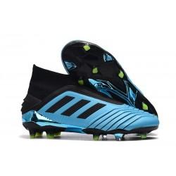adidas Zapatillas de fútbol Predator 19+ FG - Azul Negro