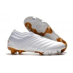adidas Botas de Futbol Copa 19+ FG Blanco Oro