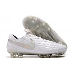 Nike Tiempo Legend 8 Elite FG Botas de Fútbol Blanco Plata