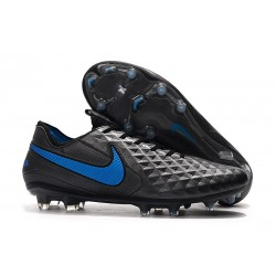 Nike Tiempo Legend 8 Elite FG Botas de Fútbol Negro Azul