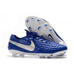 Nike Tiempo Legend 8 Elite FG Botas de Fútbol Azul Plata