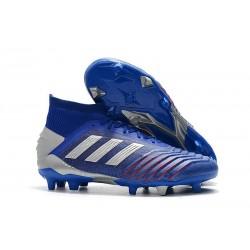 Zapatillas de Fútbol adidas Predator 19.1 FG Azul Plata