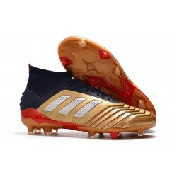 Zapatillas de Fútbol adidas Predator 19.1 FG Oro Rojo