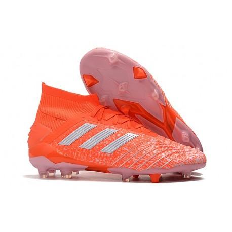 Zapatillas de Fútbol adidas Predator 19.1 FG Naranja Blanco