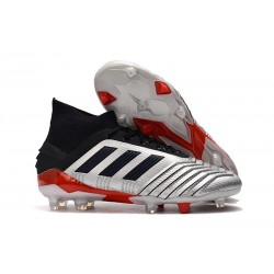 Zapatillas de Fútbol adidas Predator 19.1 FG Plata Negro