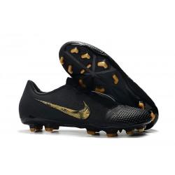 Zapatillas de Fútbol Nike Phantom VNM Elite FG Negro Oro Metalizado
