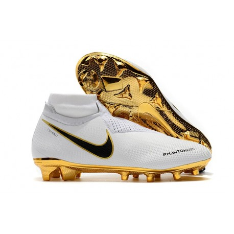 Botas de Fútbol Nike Phantom Vision Elite DF FG Blanco Oro